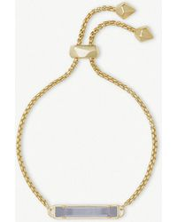 Kendra Scott - Stan 14ct Yellow Gold-plated And Slate Cats Eye Bracelet - Lyst
