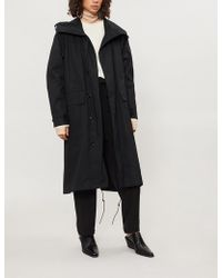 Y's Yohji Yamamoto - Hooded Cotton Shell Coat - Lyst
