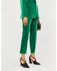 Alice + Olivia - Stacey High-rise Velvet Tapered Trousers - Lyst