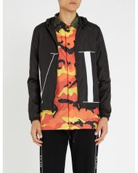 Valentino - Logo-print Shell Hooded Jacket - Lyst