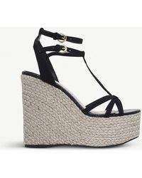 Miss Kg - Pamela Faux-suede Wedged Sandals - Lyst
