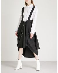 Limi Feu - Sleeveless Cotton-poplin Dress - Lyst
