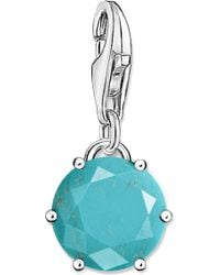 Thomas Sabo - Charm Club Sterling Silver And Turquoise Charm - Lyst