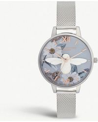 Olivia Burton - Ob16bf18 Bejewelled Florals 3d Bee Demi Dial Stainless Steel Watch - Lyst