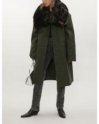 Y. Project - Faux Fur-collar Oversized Wool-blend Coat - Lyst
