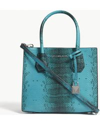 MICHAEL Michael Kors - Mercer Snake-embossed Leather Tote Bag - Lyst