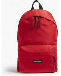 Balenciaga - Logo Nylon Backpack - Lyst