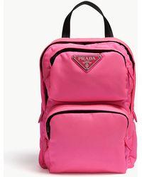 Prada - Mini Nylon Backpack In Pink - Lyst