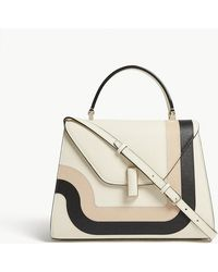 Valextra - Iside Toothpaste Striped Grained Leather Cross-body Bag - Lyst