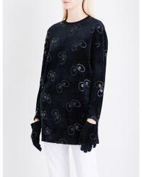 Mini Cream | Eye Logo Velvet Sweatshirt With Gloves | Lyst