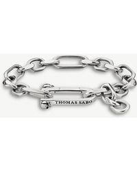 Thomas Sabo - Iconic Chains Sterling Silver Texutured Chain Bracelet - Lyst