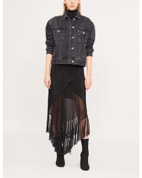 Kitx - Humane Crossover Silk-crepe Midi Skirt - Lyst