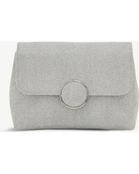 Dune - Silver Knitted Timeless Bayer Metallic-knit Clutch Bag - Lyst