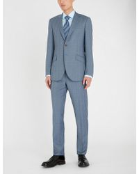 Richard James - Regular-fit Check-patterned Wool Suit - Lyst