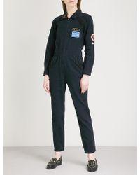 Claudie Pierlot | Patch-embroidered Denim Jumpsuit | Lyst