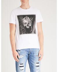 Alexander McQueen - Skull-print Cotton-jersey T-shirt - Lyst