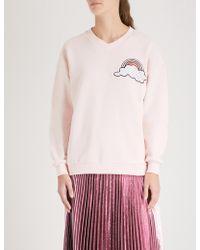 Markus Lupfer - Nicole Rainbow Cloud Cotton-jersey Sweatshirt - Lyst