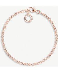 Thomas Sabo - 18ct Rose-gold Plated Charm Bracelet - Lyst