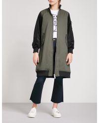 5cm - Zip-pocket Stretch-cotton And Satin Mac - Lyst