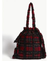 Simone Rocha - Tartan Drawstring Shoulder Bag - Lyst