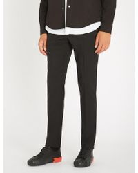 Valentino - Slim-fit Straight Wool And Mohair-blend Trousers - Lyst