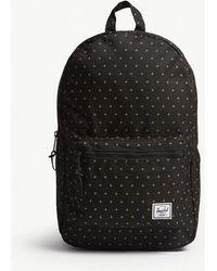 Herschel Supply Co. - . Black And Gridlock Gold Cross-print Settlement Canvas Backpack - Lyst