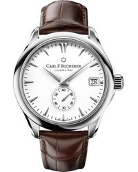 Carl F. Bucherer - 00.10917.08.23.01 Manero Peripheral Stainless Steel And Alligator Leather Watch - Lyst