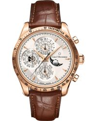Carl F. Bucherer - Rose Gold Leather Strap Watch - Lyst
