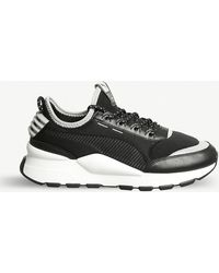 Lyst - PUMA Rs-o Sound Leather Trainers in Black for Men a741673c8