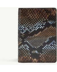 The Case Factory - Python Print Leather Passport Cover - Lyst