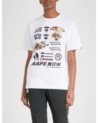 Aape - Graphic-print Cotton T-shirt - Lyst