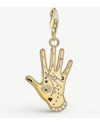 Thomas Sabo - Charm Club 18ct Gold Plated Vintage Hand Pendant - Lyst