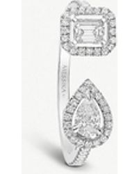 Messika - My Twin Toi & Moi 18ct White-gold And Diamond Ring - Lyst