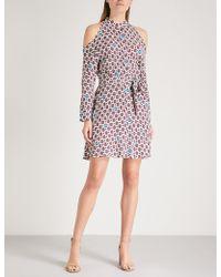 Maje - Ralinka Cold-shoulder Crepe Mini Dress - Lyst