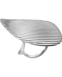 Georg Jensen - Lamellae Collection Sterling Silver Ring - Lyst