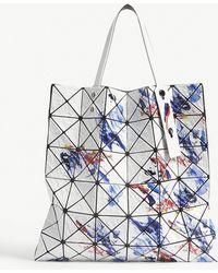 Bao Bao Issey Miyake - Bao Issey Miyake White Mix Geometric Painting Prism Tote Bag - Lyst