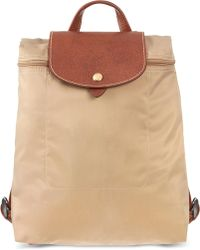 4d78321fe360a Longchamp Le Pliage Backpack - For Women in Green - Lyst