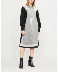 Renli Su - Organza-panelled Wool-blend Dress - Lyst