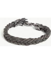 Emanuele Bicocchi - Fishtail Sterling Silver Bracelet - Lyst