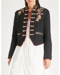 Free People - Lauren Band Cotton Jacket - Lyst