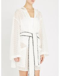 Marysia Swim - Saguaro Scallop-trim Hooded Broderie-anglaise Robe - Lyst