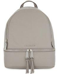 MICHAEL Michael Kors - Rhea Medium Leather Backpack - Lyst