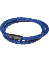 Tateossian - Chelsea Leather Double-wrap Bracelet - Lyst
