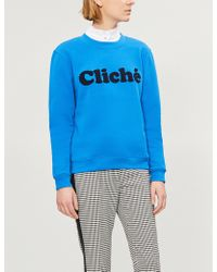 Claudie Pierlot - Teo Bis Cotton-blend Sweatshirt - Lyst