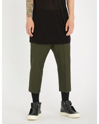 Rick Owens - Astaires Straight Cropped Wool Trousers - Lyst