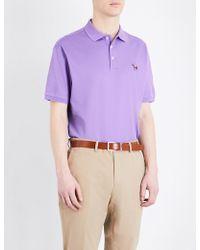 Ralph Lauren Purple Label - Regular-fit Cotton-piqué Polo Shirt - Lyst