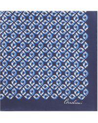 Corneliani - Chain-link Silk Pocket Square - Lyst