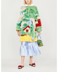 Shrimps - Nature Print Faux-fur Coat - Lyst