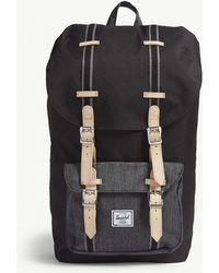 Herschel Supply Co. - . Black Denim Buckle Style Little America Buckled Canvas Backpack - Lyst