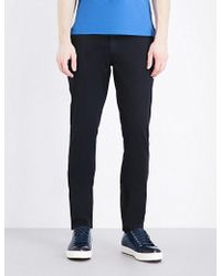 Armani Jeans | Slim-fit Tapered Stretch-cotton Chinos | Lyst